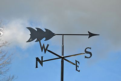 Arrow p and s weather vane