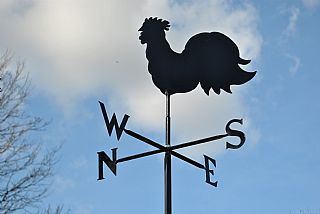 Cockerel p and s weather vane