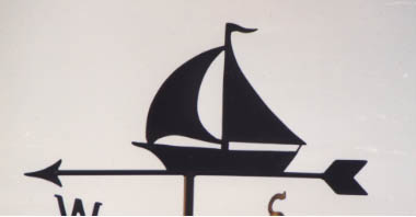 Simple Yacht weather vane