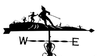 Skiing Family weather vane