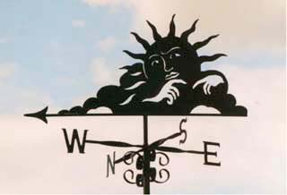 Sun weather vane