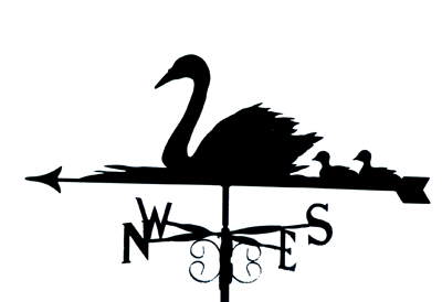Swans and Cygnets weathervane