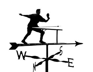 Table Tennis Player weathervane