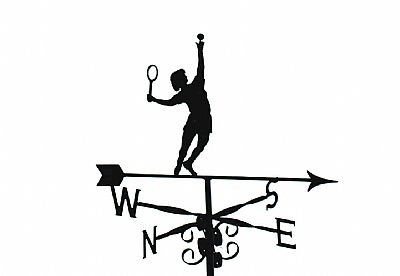 tennis player female weather vane