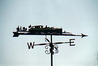 Thames Day Boat weather vane