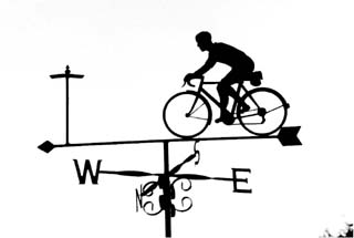 Touring Bike weather vane