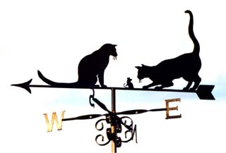 2 cats and mouse weathervane