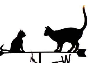 Two Cats weather vane