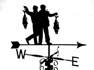Two Men and Fish weather vane