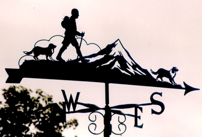 Walkers with Mountains weather vane