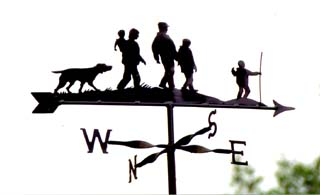 Walking Family weather vane