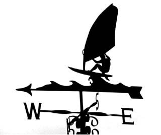 Windsurfer A weathervane