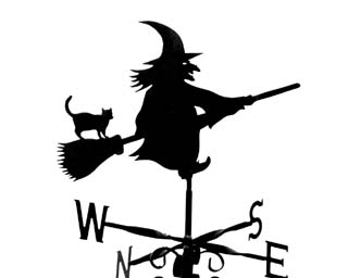 Witch on Stick weathervane