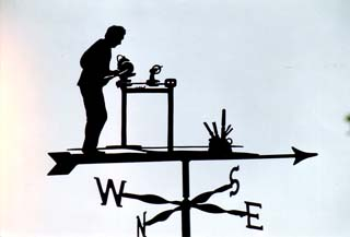Wood Turner weather vane